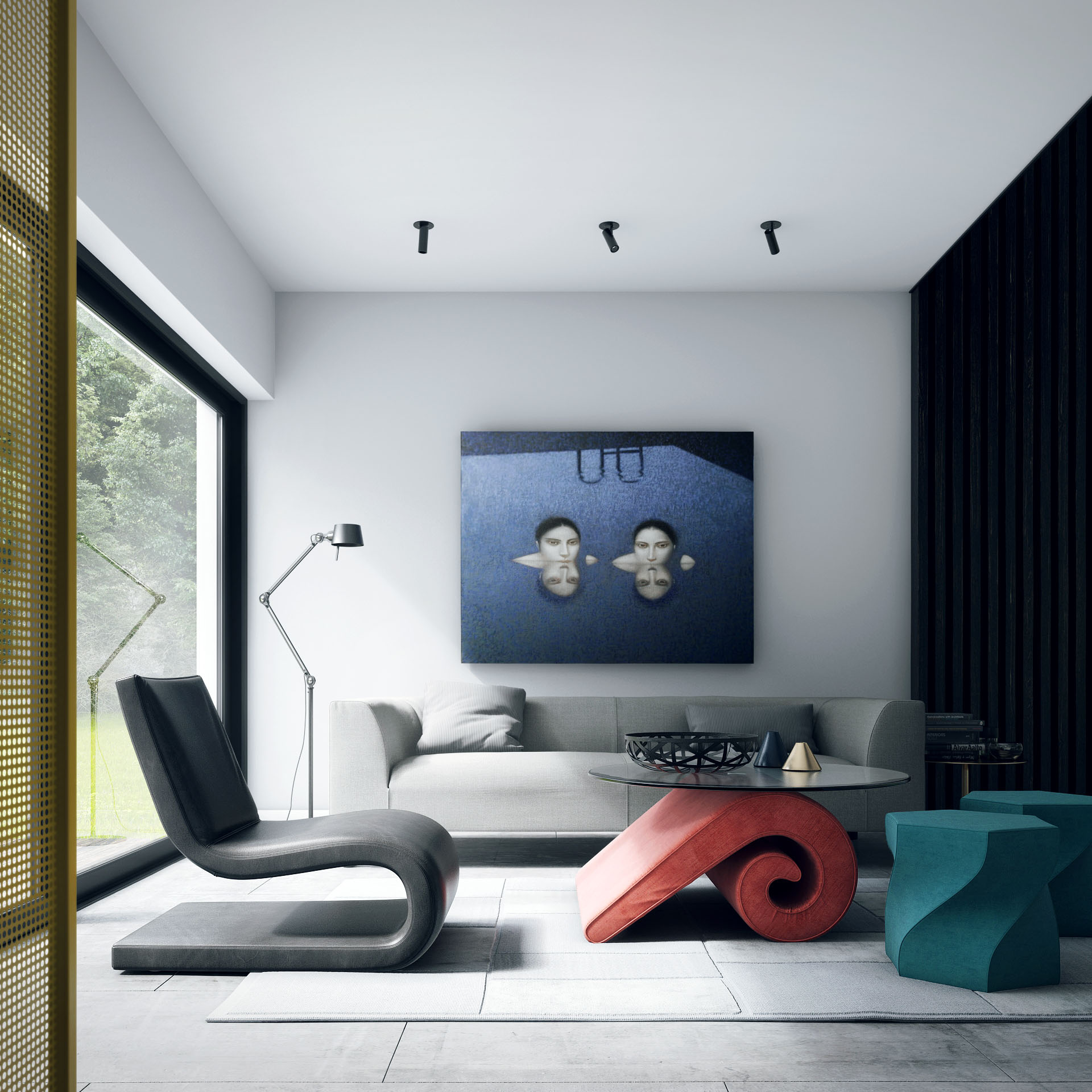Modern White And Gray Bedroom Ideas: Modern Minimal White House